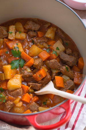 Beef Stew is the perfect comforting meal on a chilly day.