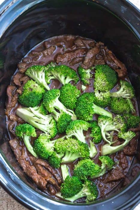 Slow Cooker Beef and Broccoli without sauce