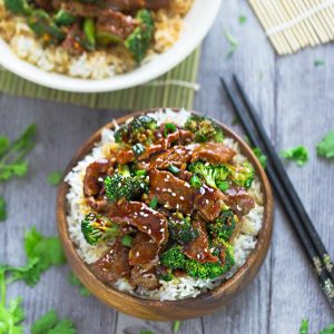 Instant Pot Beef and Broccoli - an easy set and forget Chinese takeout favorite perfect for busy weeknights. Best of all, the beef cooks up melt-in your mouth delicious in a rich and savory sauce. Recipe also works great for Sunday meal prep for work or school lunchboxes.