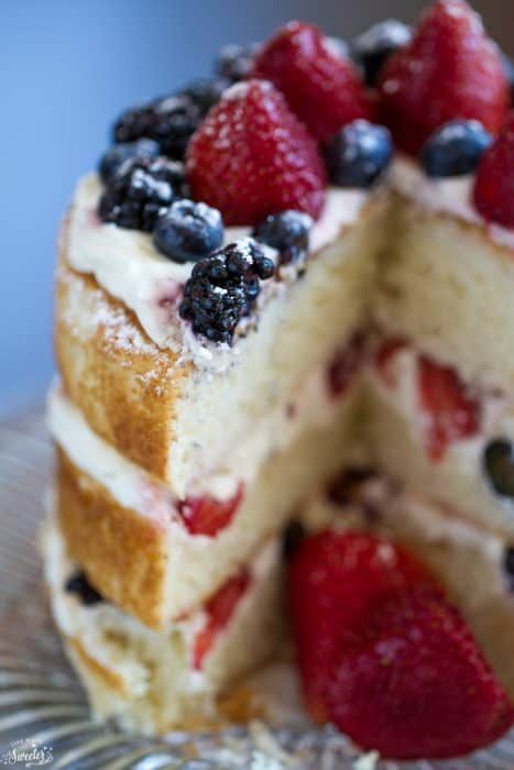 Berries and Cream Sponge Cake is the perfect dessert to use up summer berries