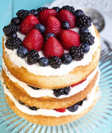 Berries and Cream Sponge Cake