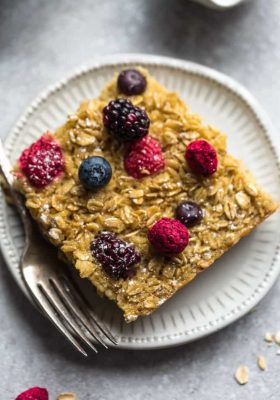 serving of Berry Baked Oatmeal