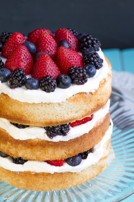 Berry Cream Sponge Cake -- How to Throw The Perfect Summer Afternoon Tea Party