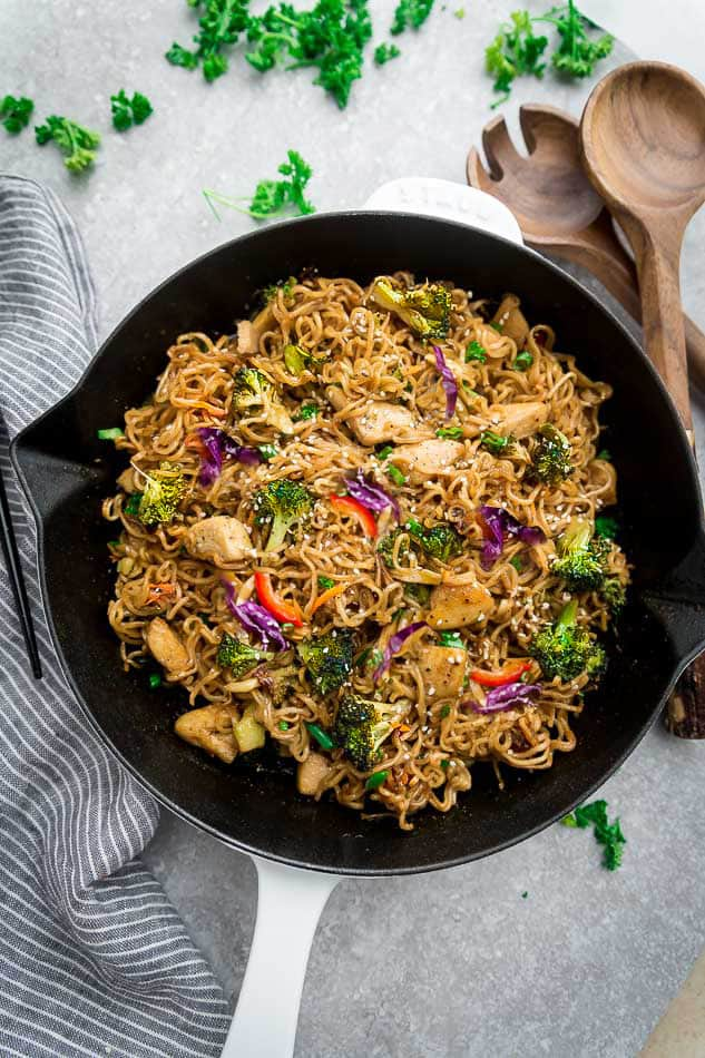 Vegetable And Chicken Chow Mein Gf Paleo Low Carb Options
