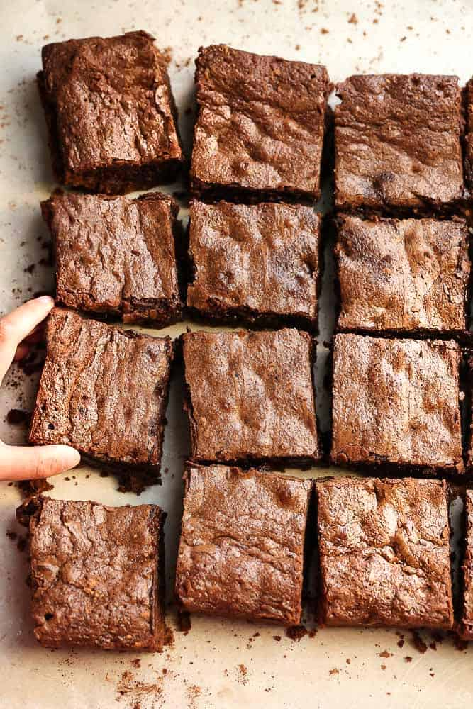 This no fail recipe for the Best Brownies ever bakes up perfectly fudgy with a crackly top every single time. So easy to make and comes together in just ONE BOWL and a whisk.