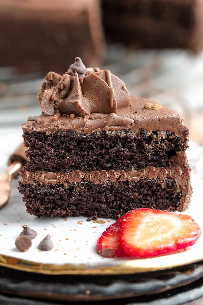 Keto Chocolate Cake - our favorite chocolate cake recipe that's intensely rich, moist with a light and airy crumb. Perfect for birthdays, parties or any time you're craving a decadent dessert that's also gluten free & low carb.