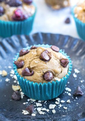 Easy Blender Muffins - the perfect healthy breakfast or snack. Best of all, comes together easily in a blender with no flour, no oil and no refined sugar. Healthy, hearty, delicious and great for making ahead on Sunday meal prep or packing into lunchboxes or as an after workout snack. Customize with your favorite add-ins like chocolate chips, nuts or mixed berries!