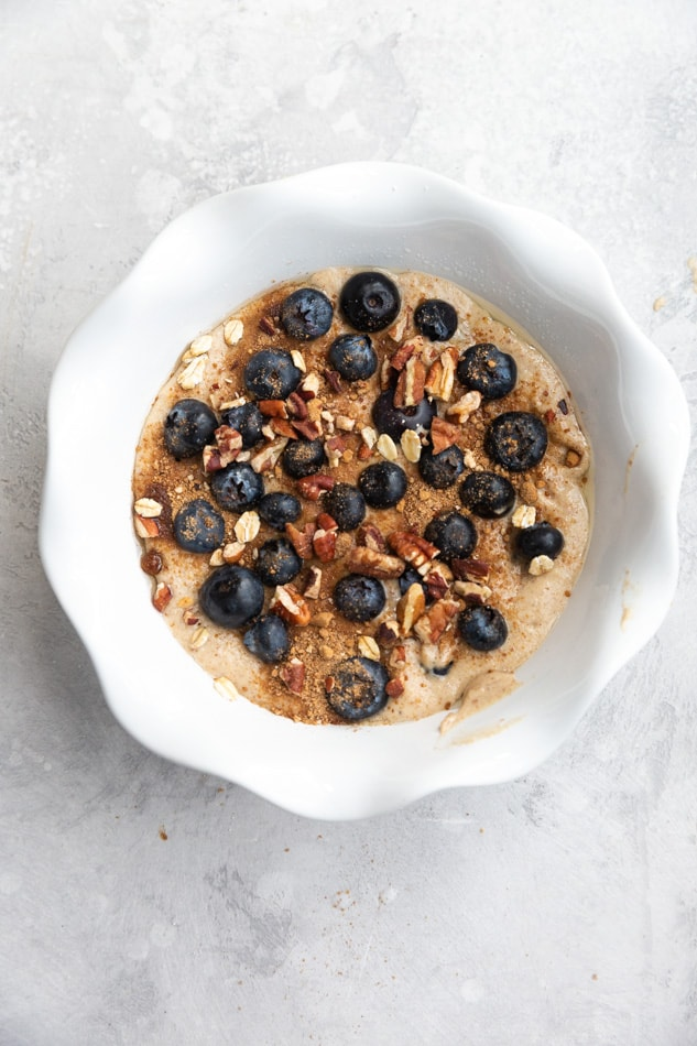 blueberry baked oats with
