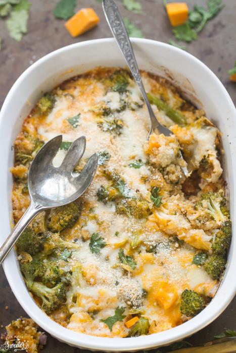 Butternut Squash Broccoli Quinoa Casserole