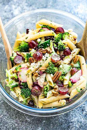 Broccoli Pasta Salad + Recipe Video!