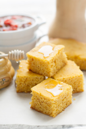 Butternut Squash Cornbread comes together easily in the Slow Cooker - perfect side dish for Thanksgiving