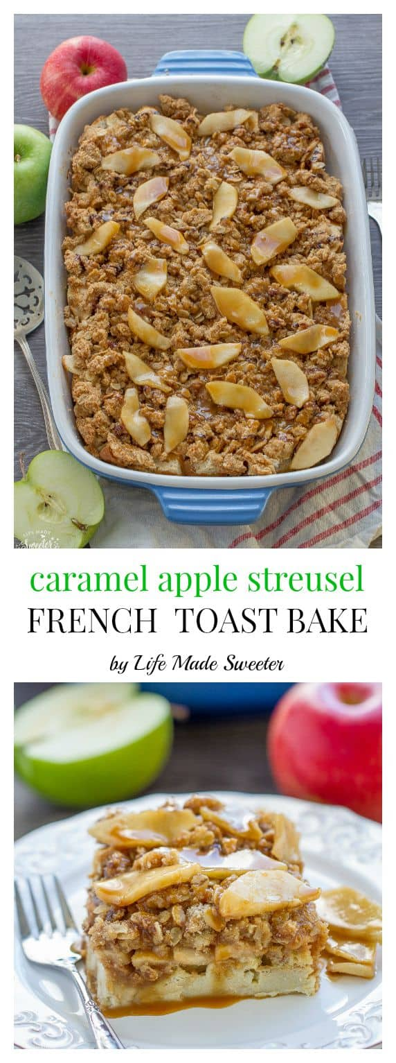 Caamel Applie Streusel French Toast Bake makes a special breakfast perfect for fall