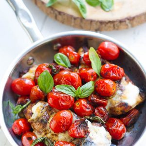 Caprese Chicken - Cooked on the skillet or grilled this chicken dish makes an easy and delicious weeknight meal