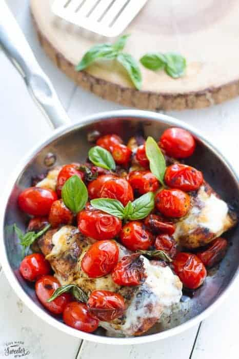 Grilled or Skillet Caprese Chicken