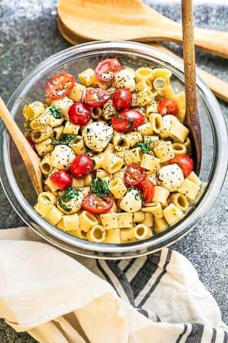 Caprese Pasta Salad + Recipe VIDEO