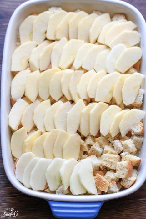 Caramel Apple French Toast Bake