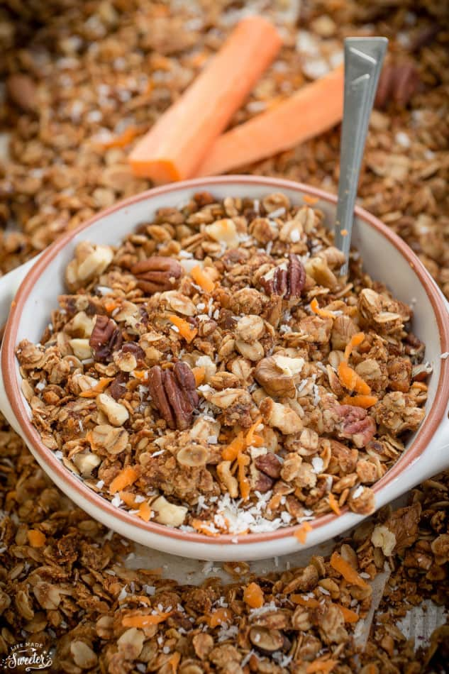 Carrot Cake Granola makes the perfect healthy & easy snack