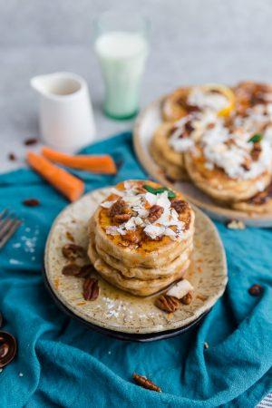 Carrot Cake Pancakes (Low Carb, Keto-Friendly)