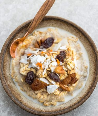 Carrot Cake Steel Cut Oatmeal