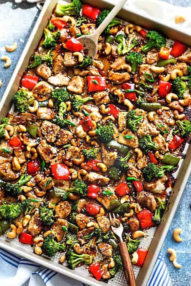 Cashew Chicken Sheet Pan + Meal Prep + Recipe Video