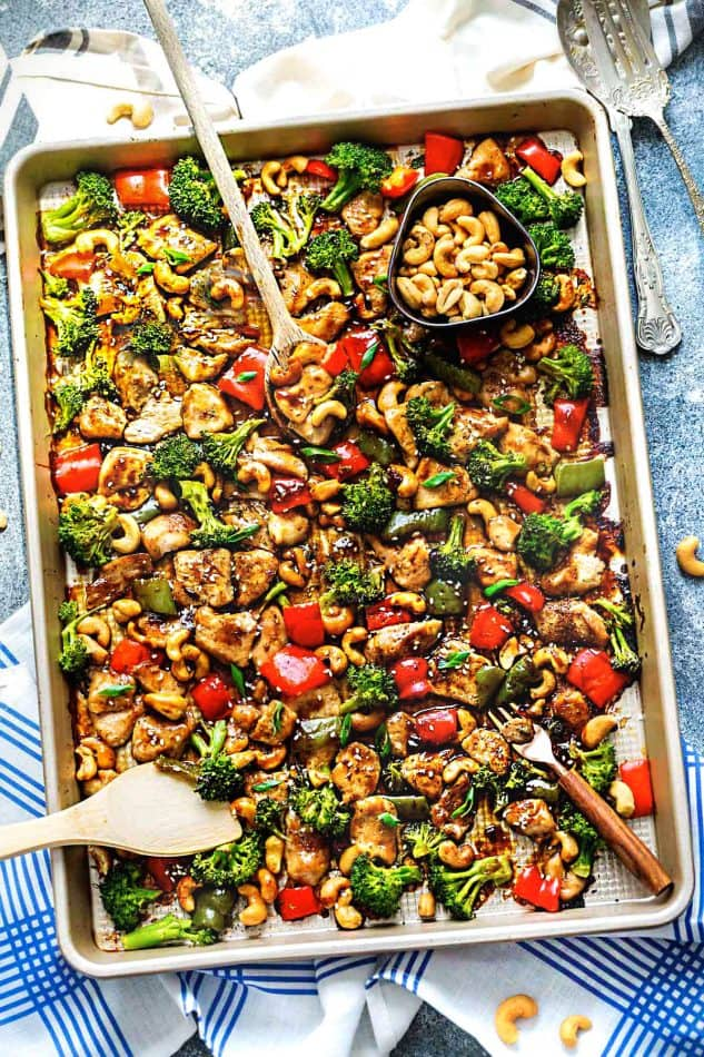 Cashew chicken sheet pan recipe video meal prep best of all its perfect for busy weeknights and simple to customize with paleo and keto friendly options plus a recipe video forumfinder Choice Image