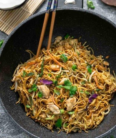 Chicken Chow Mein Noodles + RECIPE Video