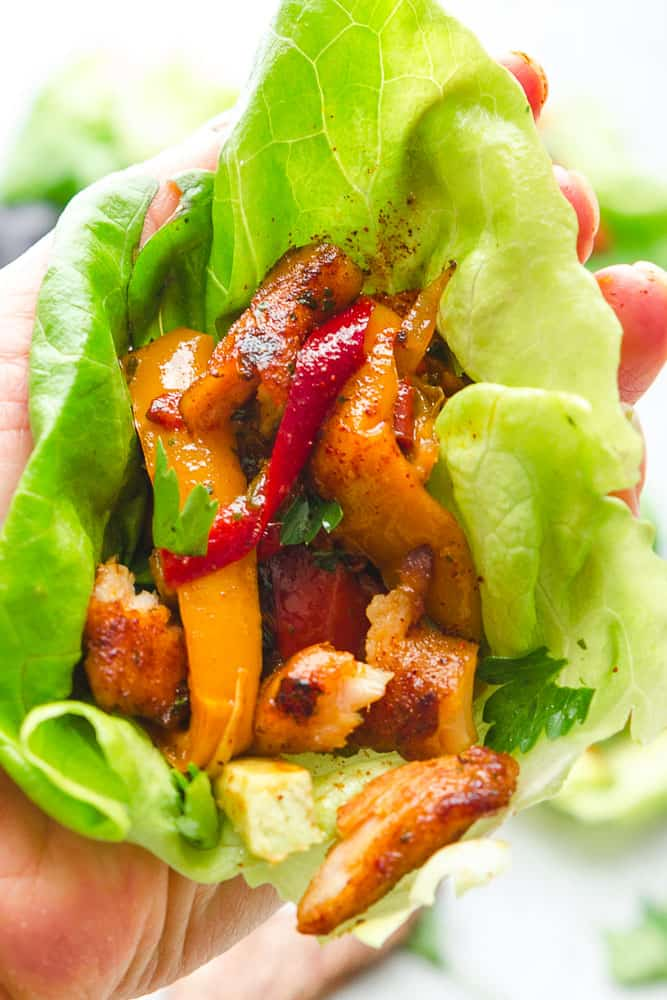 Chicken Fajita Lettuce Wraps Paleo Whole 30 Amp Keto