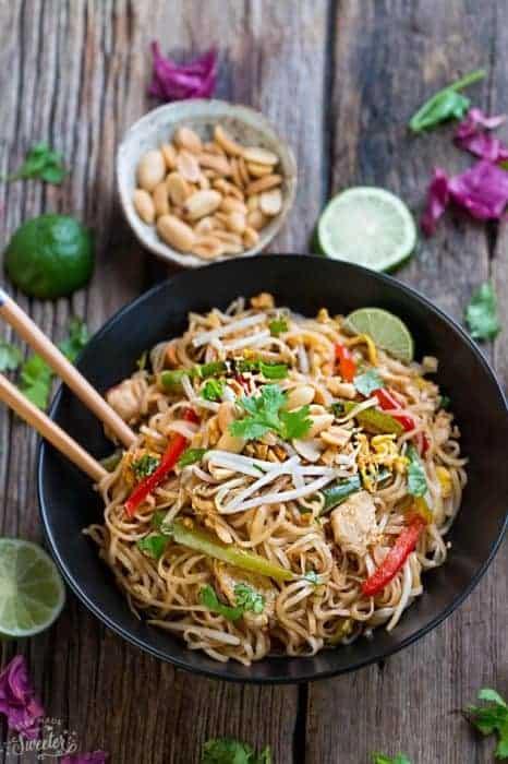 Chicken Pad Thai Noodles + Video
