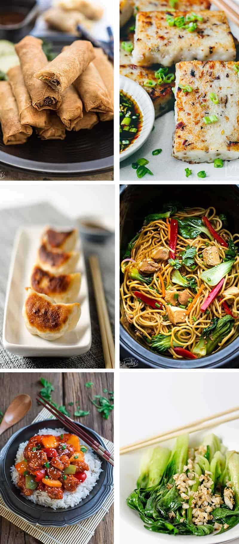 Collage of four Lunar New Year recipes
