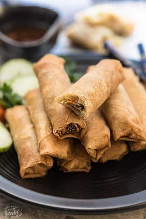 Authentic Chinese Spring Rolls / Egg Rolls – Baked and Fried