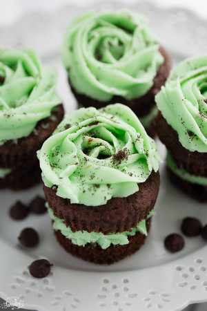 Chocolate Mint Cupcakes are perfect for the holidays