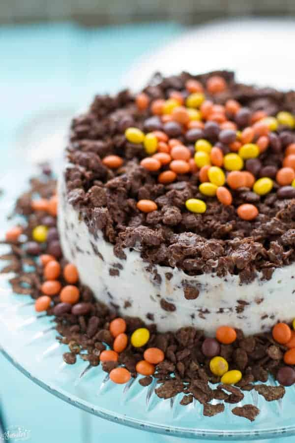 Peanut Butter Chocolate Crunch Ice Cream Cake