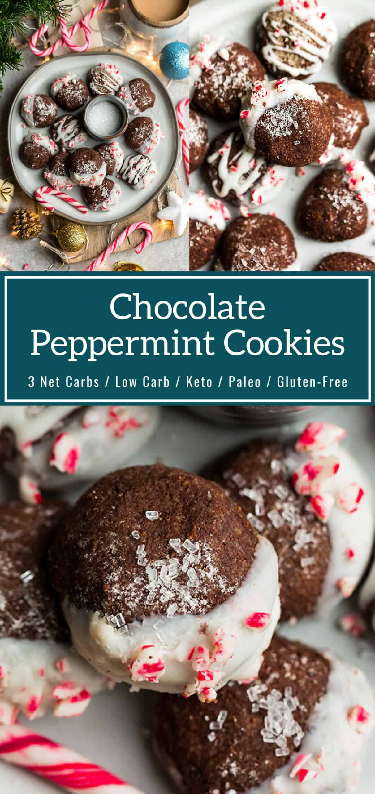 Low Carb Chocolate Peppermint Cookies