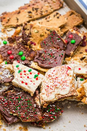 Christmas Cracker Toffee – 7+ Ways + Video!