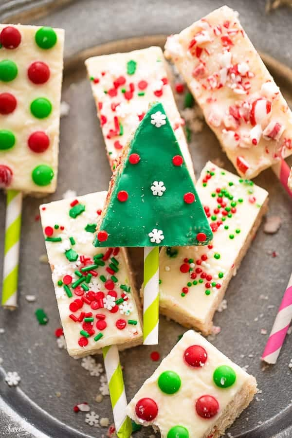 Christmas White Chocolate Rice Krispy Treats are perfect for the holidays