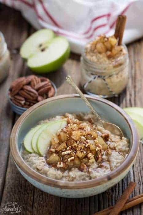 Cinnamon Apple Pie Oatmeal