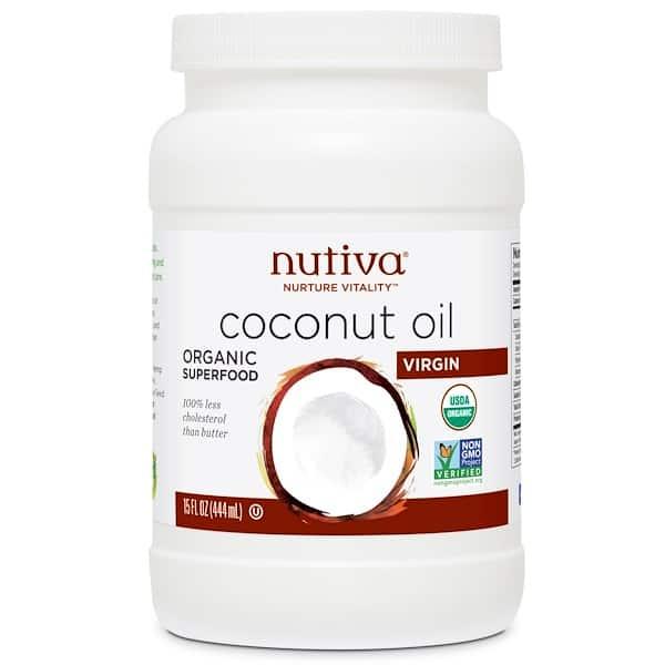 Jar of Nutiva Virgin Coconut Oil