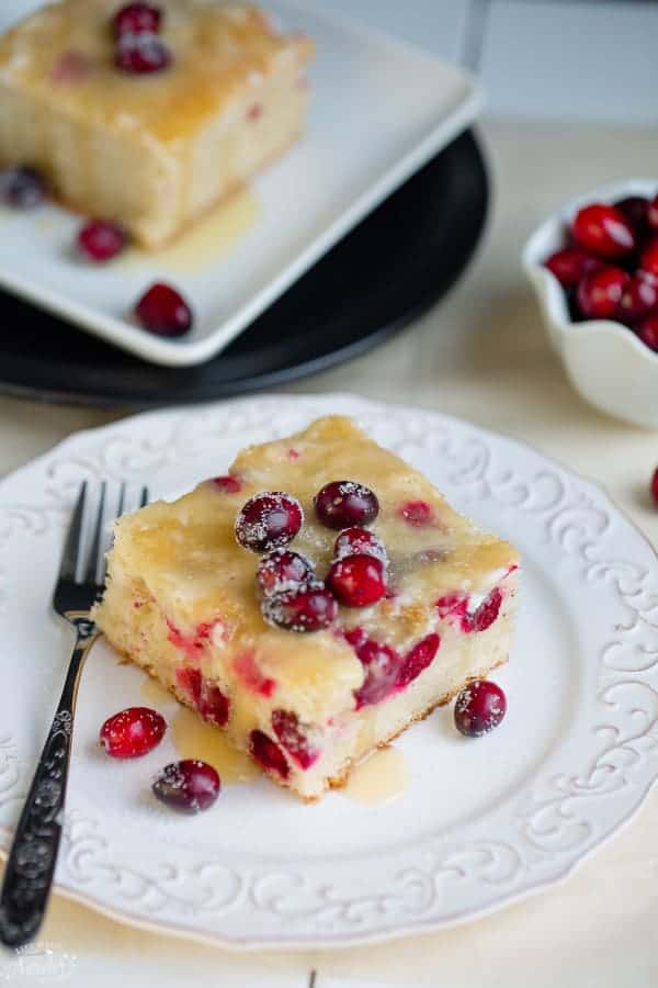 Cranberry Christmas Cake with Butter Sauce makes the perfect dessert for the holidays.