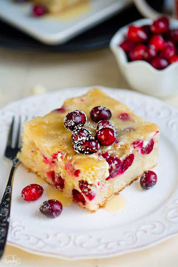 Christmas Cake.Cranberry Christmas Cake With Butter Sauce