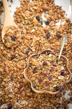 Cranberry Pumpkin Granola makes the perfect healthy snack!!