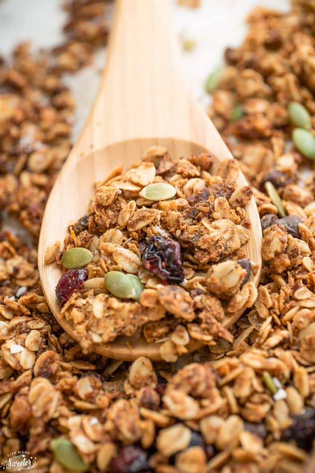 Cranberry Pumpkin Granola makes the perfect healthy snack.