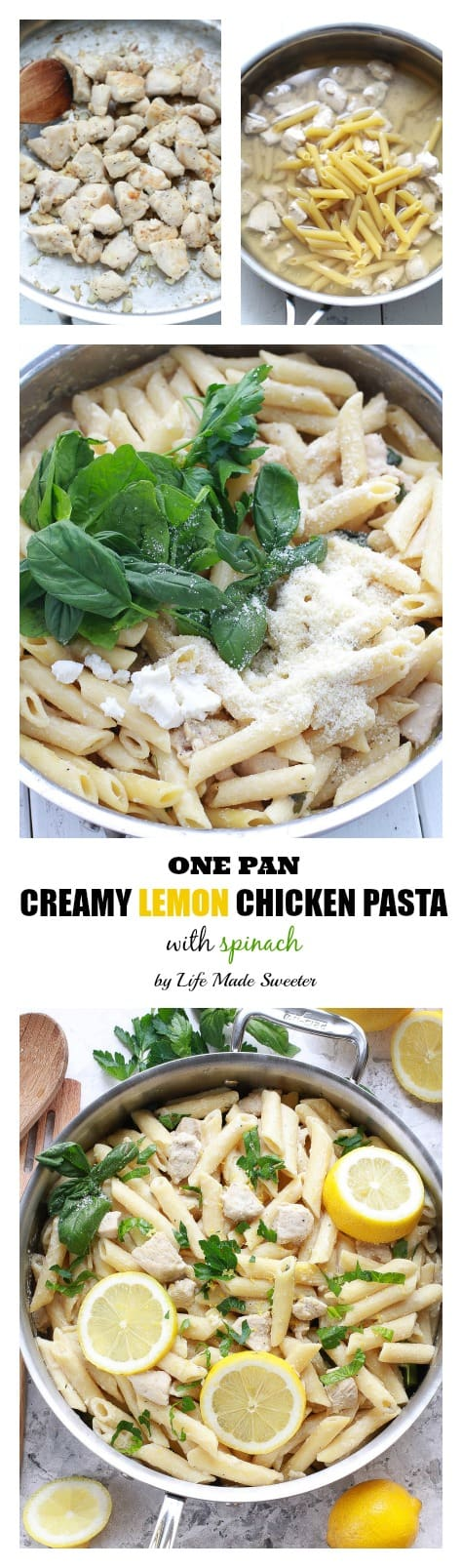 Creamy Lemon Chicken One-Pan Pasta makes the perfect weeknight meal made all in one pot in under 25 minutes.