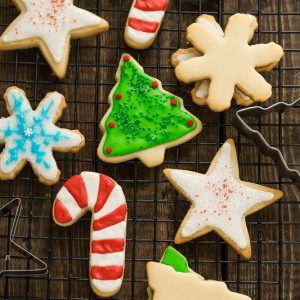 the best sugar cookie recipe for making decorated cut out christmas holiday shapes with perfect - Making Christmas Cookies