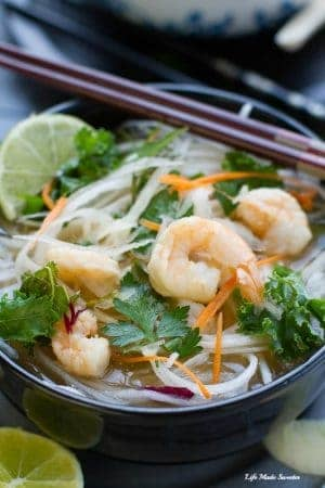 ... using sprialzed daikon noodles with a sweet & spicy vegetable broth