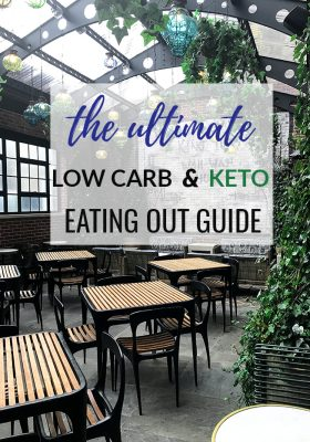 Following a keto low carb diet can be tricky when dining out but don't let your whole social life tank on account of your lifestyle. This guide is full of all the tips and tricks for eating out.