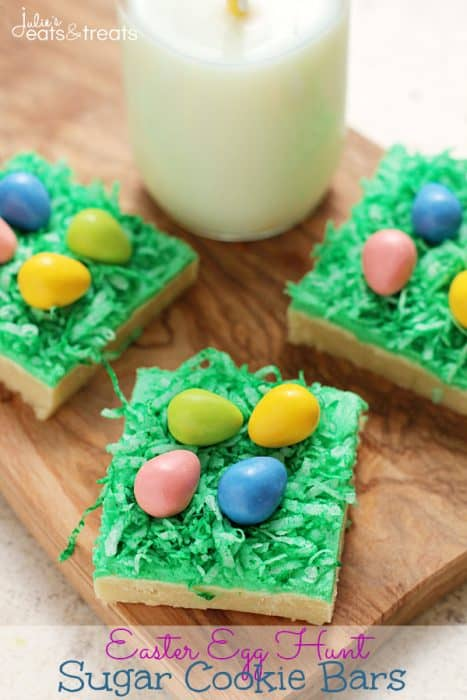 Easter Egg Hunt Sugar Cookie Bars