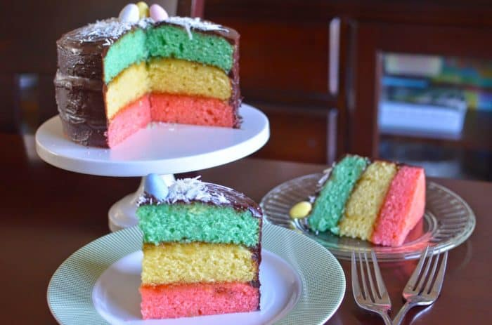 Easter Tri-color Cookie Easter Cake