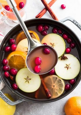 This Easy Homemade Apple Cider Recipe is the perfect easy drink for fall and the holiday season. Best of all, this easy version is made with a blend of juices and infused with apples, orange, lemon, cranberries, cinnamon and cloves. Set and forget and makes your house smell amazing! Warm up with a mug by a cozy fireplace.