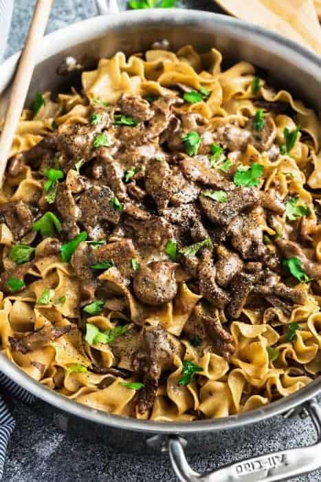 Easy Beef Stroganoff One Pot