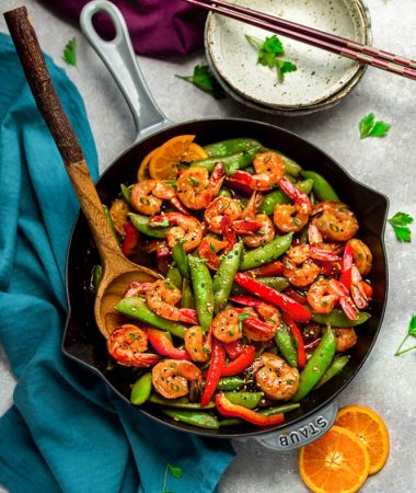 Orange Garlic Shrimp Stir Fry